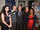 With Mr. and Mrs. Daniels and two contributors to Young Voices magazine, at the Daniels' home during a Toronto Public Library Foundation fundraising event - November 2013